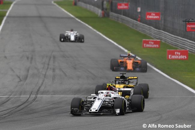 Charles Leclerc - Sauber - Carrera Gran Premio Italia 2018
