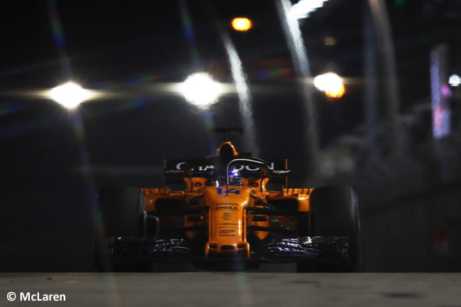 Fernando Alonso - McLaren - Carrera GP Singapur 2018