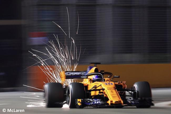 Fernando Alonso - McLaren - Clasificación GP Singapur 2018
