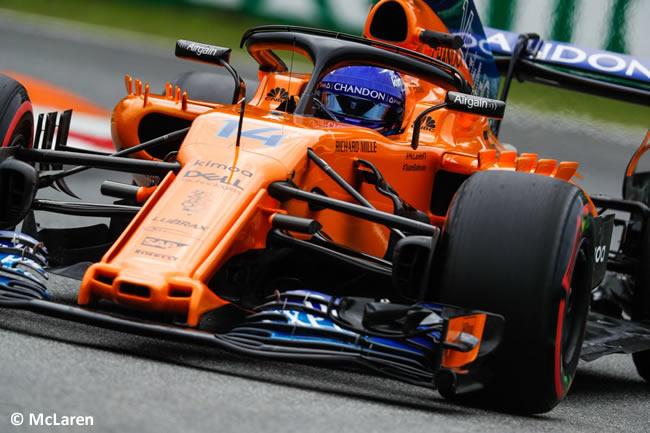 Fernando Alonso - McLaren - Entrenamientos Gran Premio Italia 2018