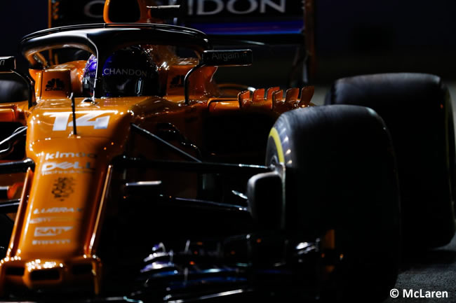 Fernando Alonso - McLaren - Entrenamientos - GP Singapur 2018