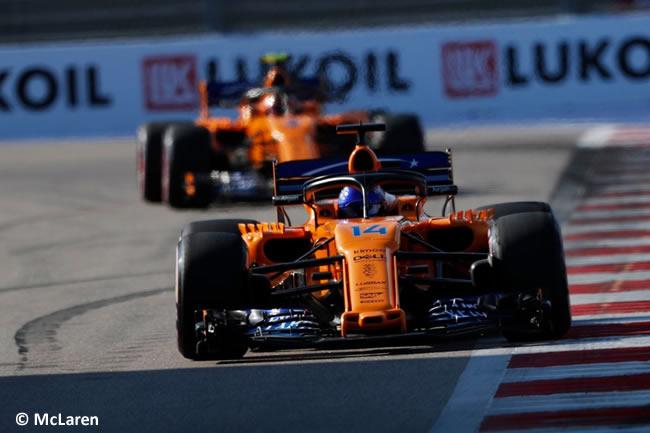 Fernando Alonso - Stoffel Vandoorne - McLaren - Clasificación GP Rusia 2018