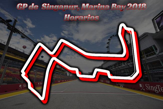 Horarios Gran Premio de Singapur 2018