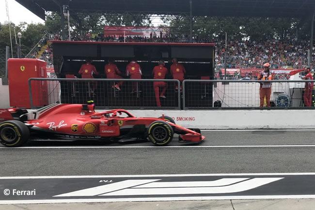 Kimi Raikkonen - Scuderia Ferrari - Entrenamientos Gran Premio Italia 2018
