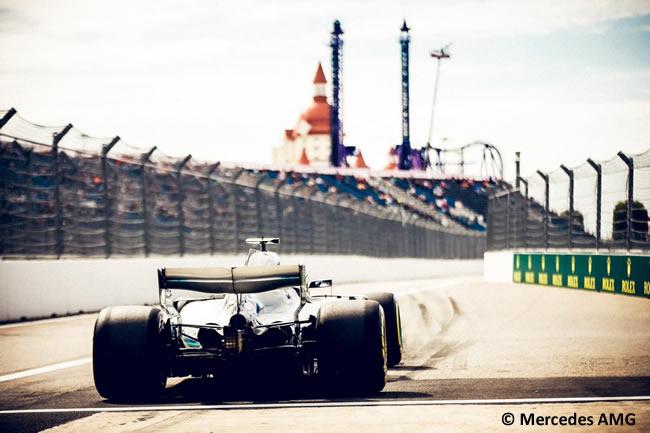 Lewis Hamilton - Mercedes - Entrenamientos Rusia 2018