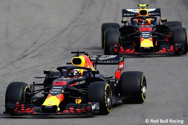 Max Verstappen - Daniel Ricciardo - Red Bull Racing - Carrera GP Rusia 2018