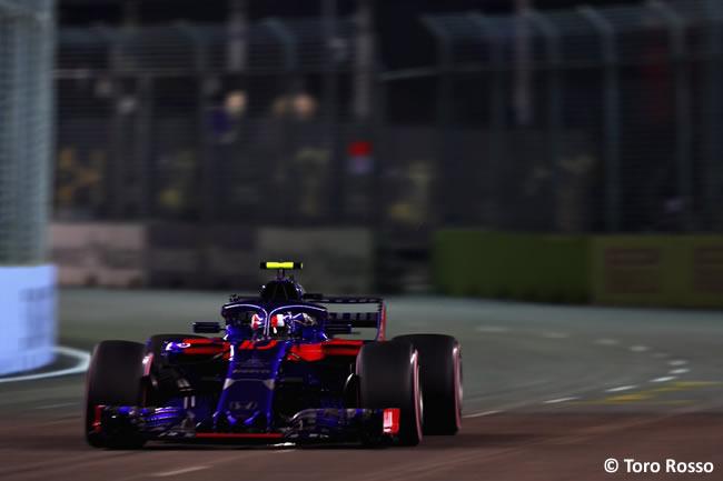 Pierre Gasly - Toro Rosso - Clasificación GP Singapur 2018