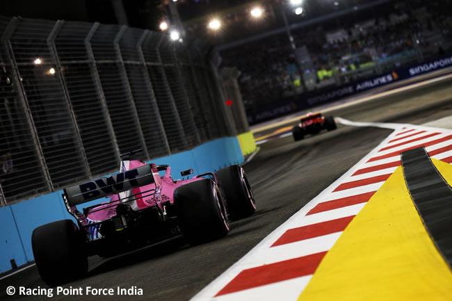 Racing Point Force India - Clasificación GP Singapur 2018