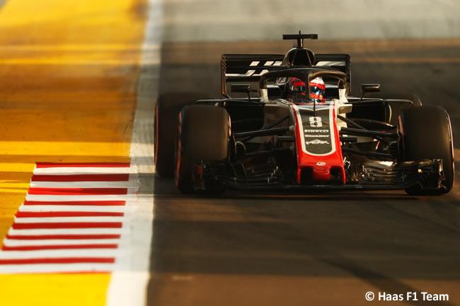 Romain Grosjean - Haas - Entrenamientos - GP Singapur 2018