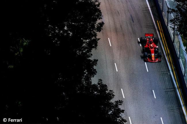 Sebastian Vettel - Scuderia Ferrari - Carrera GP Singapur 2018