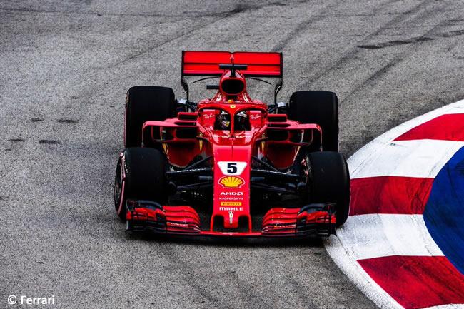 Sebastian Vettel - Ferrari - Clasificación GP Singapur 2018