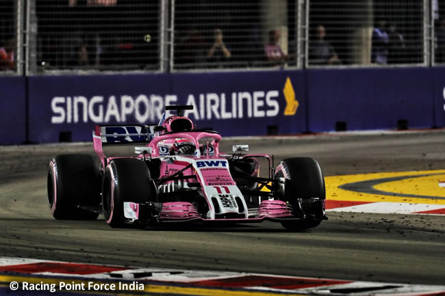 Sergio Pérez - Force India - Carrera GP Singapur 2018