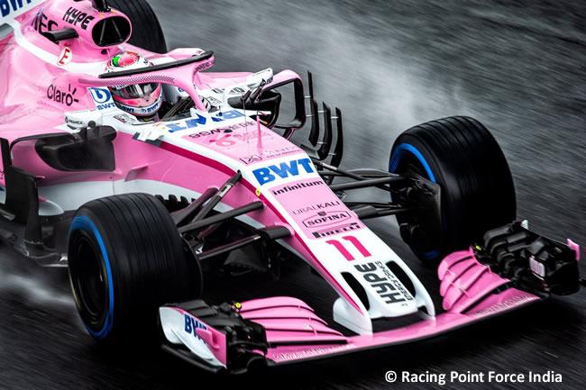 Sergio Pérez Force India Entrenamientos Gran Premio Italia 2018