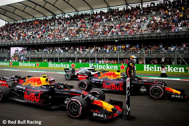 Daniel Ricciardo - Max Verstappen Red Bull Racing - Clasificación - GP México AHR - 2018