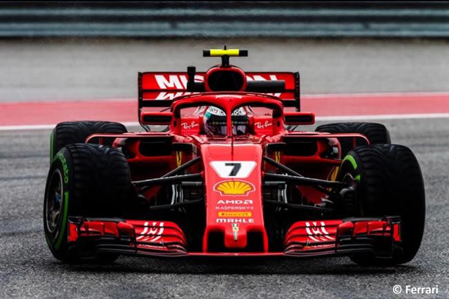 Kimi Raikkonen - Scuderia Ferrari - Entrenamientos GP Estados Unidos 2018 -