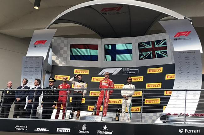 Kimi Raikkonen - Victoria Podio - Max Verstappen - Lewis Hamilton - Scuderia Ferrari - Carrera GP Estados Unidos 2018 -