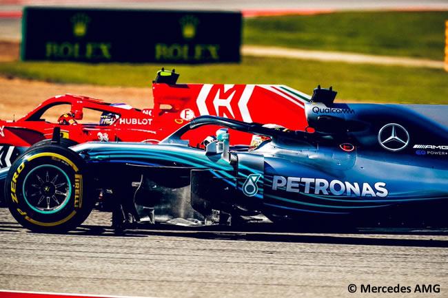 Lewis Hamilton - Kimi Raikkonen - Mercedes AMG - Carrera GP Estados Unidos 2018 -