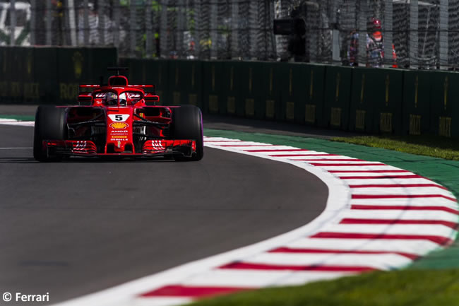 Sebastian Vettel - Scuderia Ferrari - Carrera - GP México AHR - 2018