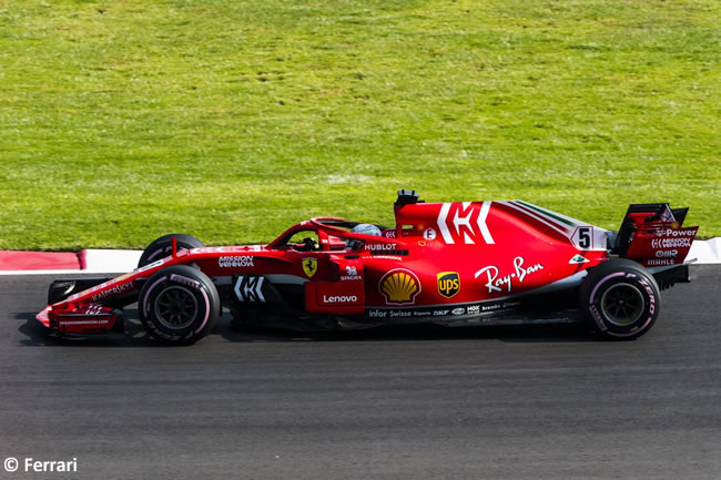 Sebastian Vettel - Scuderia Ferrari - Entrenamientos Libres - GP México AHR - 2018