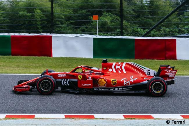 Sebastian Vettel - Scuderia Ferrari - Entrenamientos - GP Japón 2018