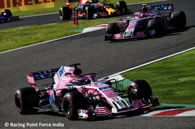 Sergio Pérez - Force India - GP Japón - Carrera