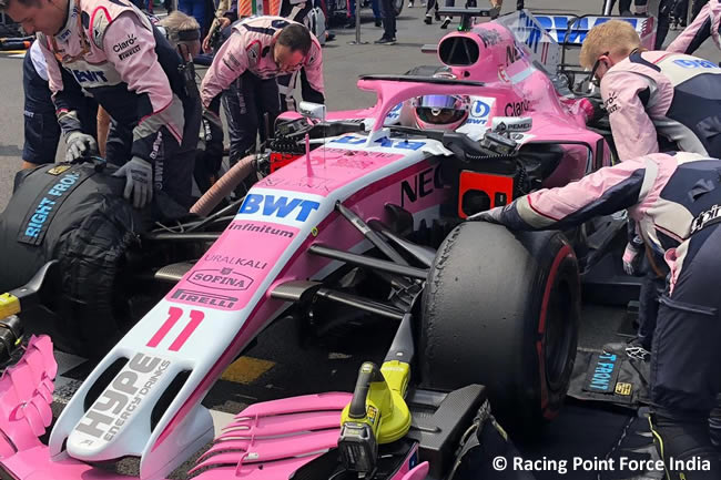 Sergio Pérez - Racing Point Force India - Carrera - GP México AHR - 2018