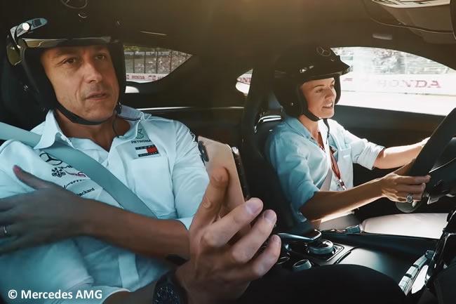 Susie Wolff - Toto Wolff - Mercedes AMG GTR - Suzuka