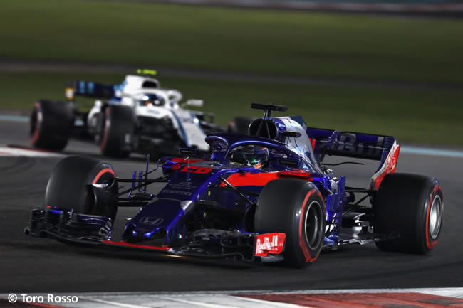 Brendon Hartley - Toro Rosso - Carrera- GP Abu Dhabi 2018