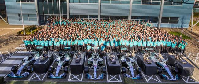 Celebración Mercedes AMG 2018 - Sedes - Ganador Campeonato