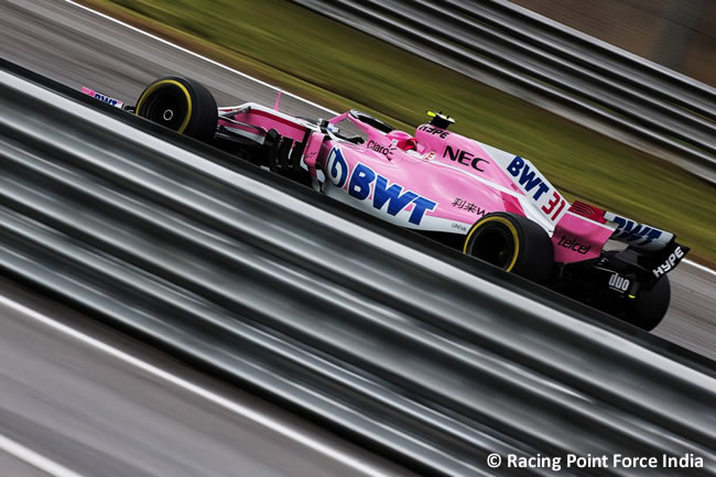 Esteban Ocon - Racing Point Foce India - Entrenamientos Gran Premio de Brasil 2018 - Interlagos