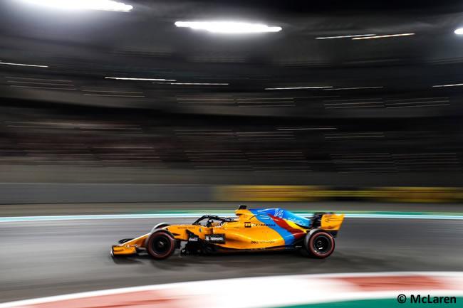 Fernando Alonso - McLaren - Carrera - GP Abu Dhabi 2018
