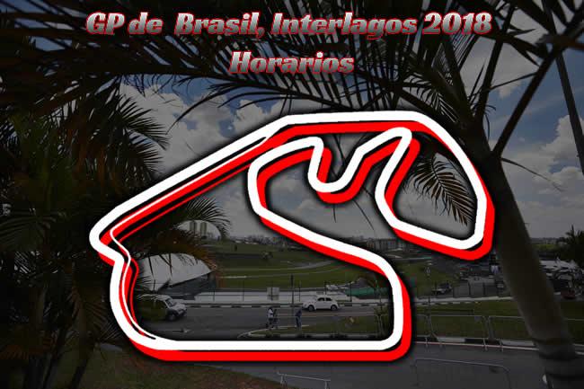 Gran Premio Brasil 2018 -Inerlagos - Horarios
