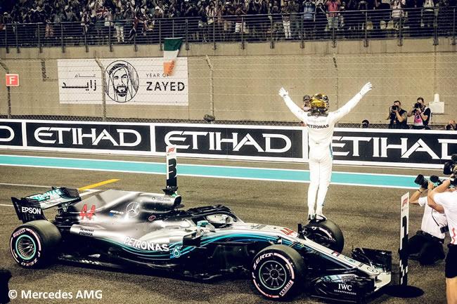 Lewis Hamilton - Mercedes - Clasificación - GP Abu Dhabi 2018