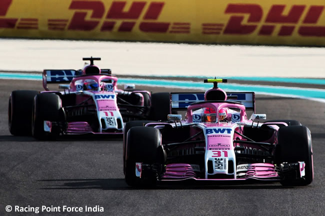 Racing Point Force India - Clasificación - GP Abu Dhabi 2018