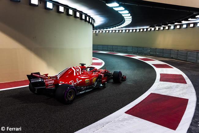 Sebastian Vettel - Scuderia Ferrari - Carrera - GP Abu Dhabi 2018