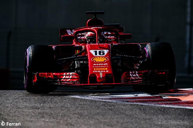 - Día 2 - Chalres Leclerc - Scuderia Ferrari - Test Abu Dhabi