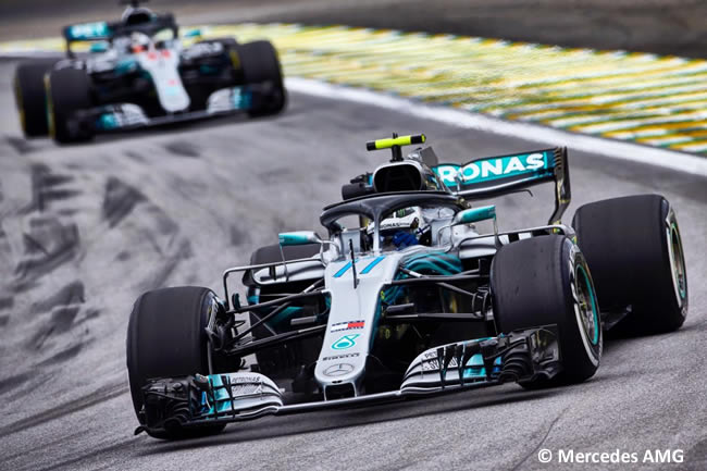 Valtteri Bottas - Lewis Hamilton - Mercedes AMG - Entrenamientos Gran Premio de Brasil 2018 - Interlagos