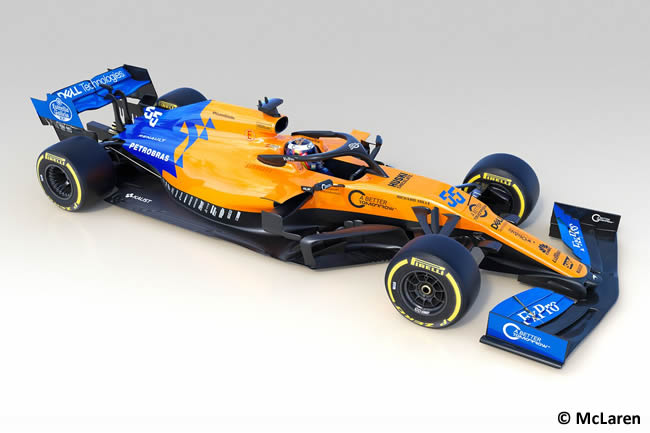 McLaren - MCL34 - 2019 - Lateral