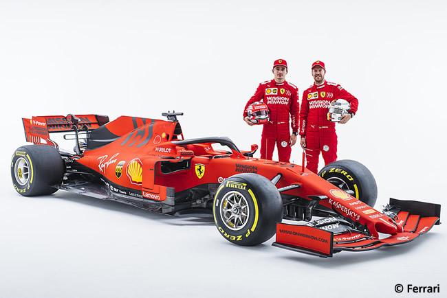 Ferrari - SF90 - Lateral 2019 - Sebastian Vettel - Charles Leclerc