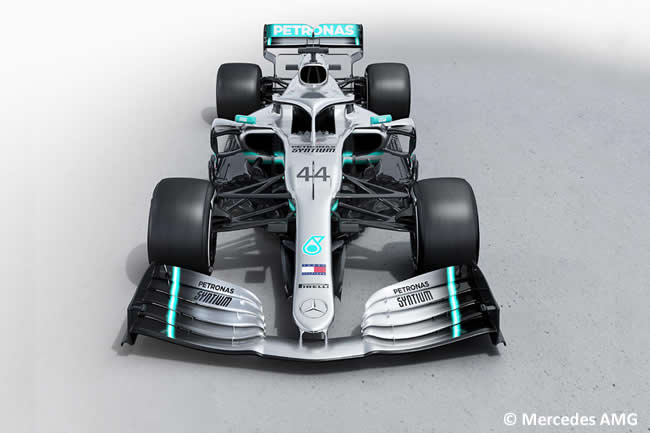 Mercedes - W10 - 2019 - Frontal