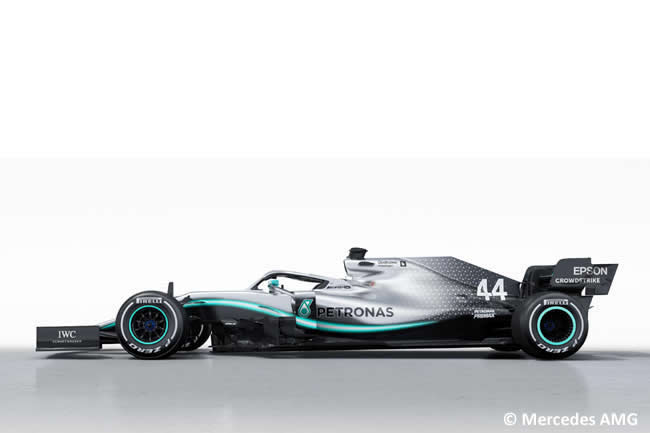 Mercedes - W10 - 2019 - Lateral