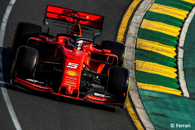 Sebastian Vettel - Scuderia Ferrari - Clasficación - GP Australia 2019