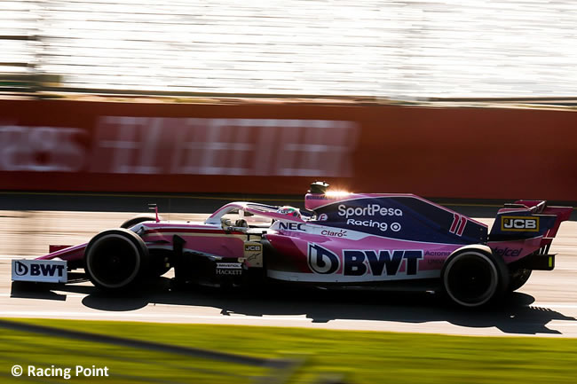 Sergio Pérez- Racing Point - GP Australia Melbourne 2019 - Carrera