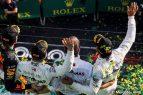 Podio - Valtteri Bottas - Lewis Hamilton - Mercedes - Max Verstappen - GP Australia Melbourne 2019 - Carrera