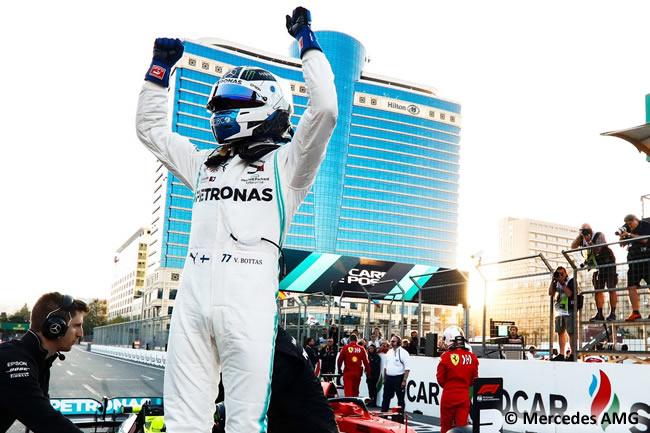 Valtteri Bottas - Mercedes- Clasificación - GP Azerbaiyán