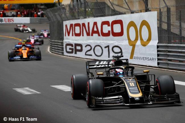Romain Grosjean - Haas- GP Mónaco 2019