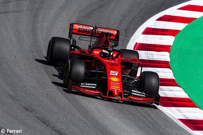 Sebastian Vettel -Scuderia Ferrari - Carrera - GP España 2019