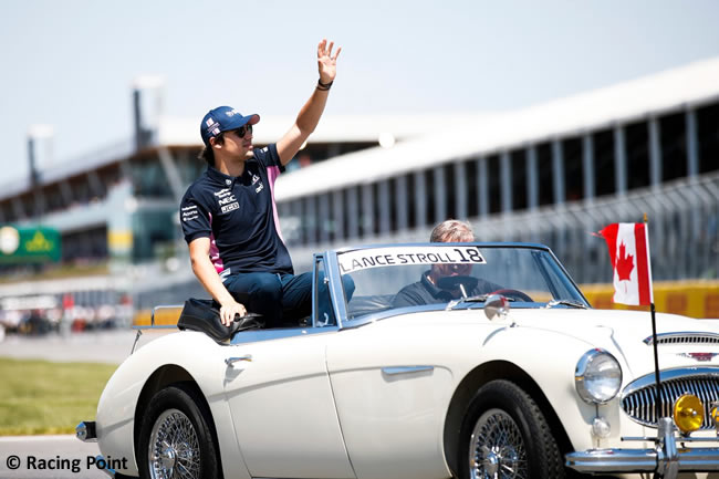Lance Stroll - Racing Point - Carrera - Canadá 2019