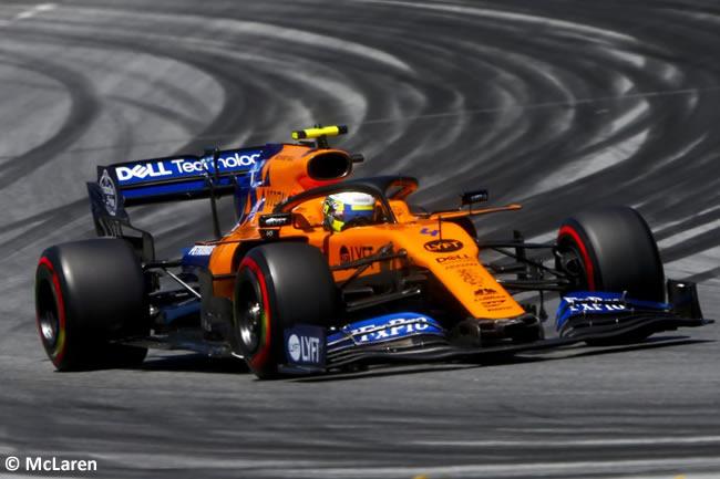 Lando Norris - McLaren -Clasificación GP Austria - Red Bull Ring