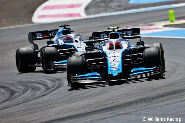 Robert Kubica - George Russell - Williams - Carrera GP Francia 2019